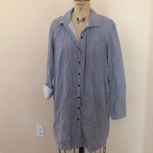 Mini Railroad Stripe H&M Shirt Dress 4